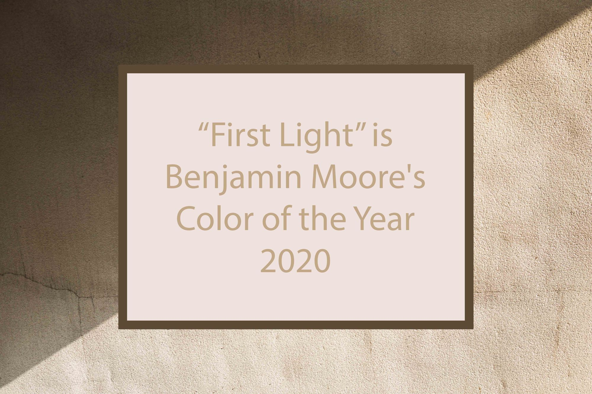 Benjamin Moore's Color of the Year 2020